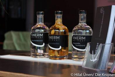 Die drei Weinbrände des Weingut Knierim.