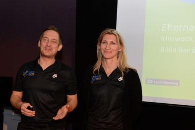 Benjamin Klante (Clubleiter) und Kathlen Massow (Technische Leiterin)