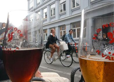 Ein Teil der Fahrradringstraße- Mejlgade