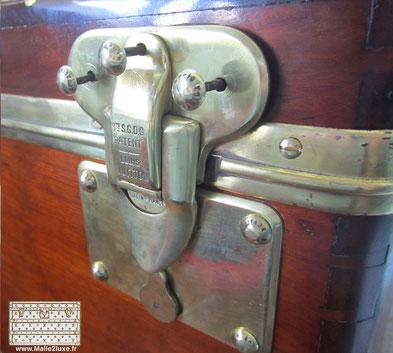 riveting louis vuitton lock trunk