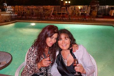 Anik Couble et Esméralda Petit Benito, à la Villa Ratapoil - Festival de Cannes 2016 - Photo © Anik Couble