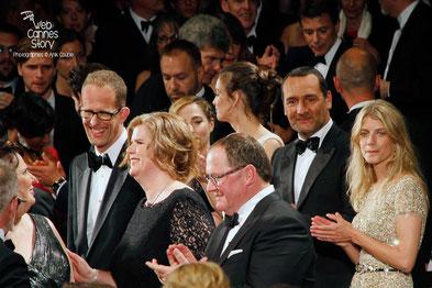 Léa Seydoux,  Abdellatif Kechiche et Adèle Exarchopoulos - Festival de Cannes 2013