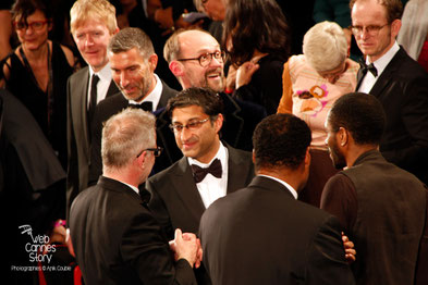 "Asif Kapadia, lors de la projection de son film ""Amy"" -  Festival de Cannes 2015 - photo © Anik COUBLE"