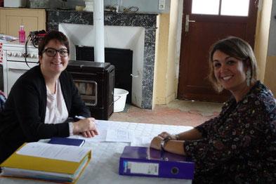 De gauche à droite : Isabelle Breton et Rachel Mérat pilotent l'association Odon'Attitude.