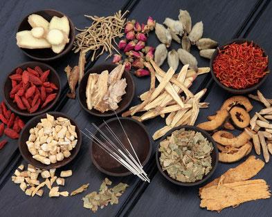 Kruiden en acupunctuur naalden