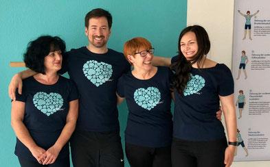 Das Team von Sporteve Babelsberg freut sich auf Dich: Marion, Oliver, Jutta und Elena.