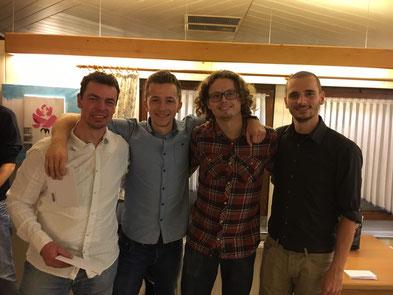 Frank S, Luis L, Benjamin C und Markus S