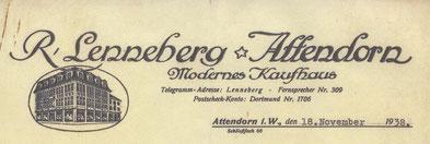 Kopfbogen des Kaufhauses Lenneberg aus dem Jahr 1938