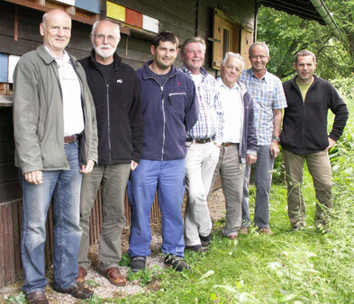 Vorstand der Ortsgruppe Maxglan (Reihenfolge der Namen von links nach rechts)