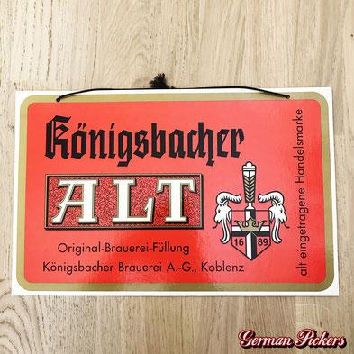 Königsbacher Brauerei Koblenz Alt-Bier  Pappschild  50 x 33 cm  um 1960