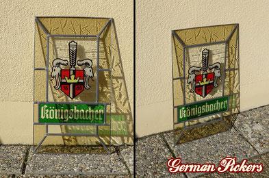 Königsbacher Brauerei - Glasfenster  Bleiglasfenster  Koblenz um 1960  50 × 30 cm