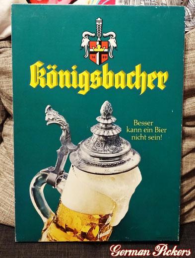 Königsbacher Pils - Blechschild  Deutschland um 1960  33 x 50 cm, C. ROBERT DOLD Offenburg - Königsbacher Brewery - tin sign  Germany 1960`s