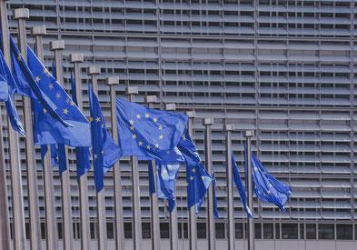 Reihe europäischer Flaggen