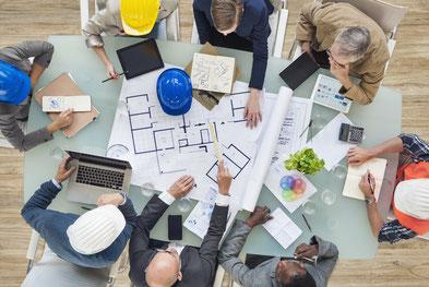 Baubeteiligte im Wohnungsbau