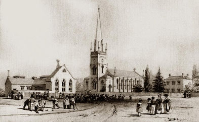St Matthew's in 1840 - image from Graham Knight's Birmingham Old Prints Facebook page