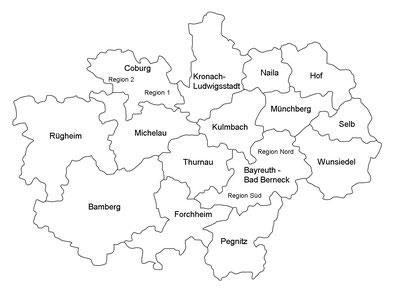 Oberfranken Karte.Dekanante Ej Oberfrankens Webseite