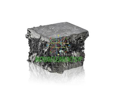 gadolinio incastonato in cubo di acrilico