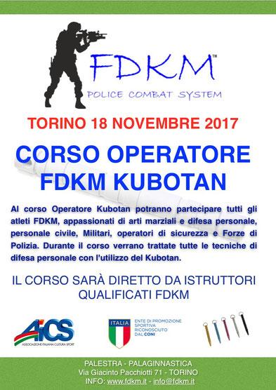 Corso Operatore Kubotan TORINO 17  NOVEMBRE 2017