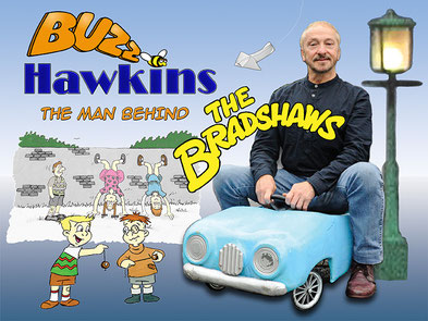 Buzz Hawkins is the man behind the comedy sensation, The Bradshaws. Saddleworth Live at the Millgate.