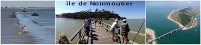 l'ile de Noirmoutier, vue du ciel et le passage du Gois