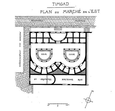 Timgad (Thamugadi) : Plan du Marché de l'Est
