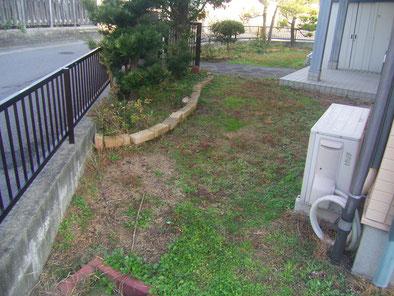 土を捨てる 家の草抜きます 芝生 芝撤去 芝