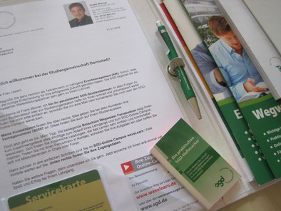 SGD-Startpaket: Willkommensmappe