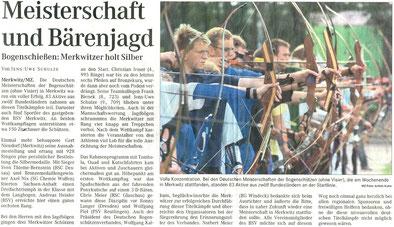 Artikel - 4. DM Bögen ohne Visier in Merkwitz 2007