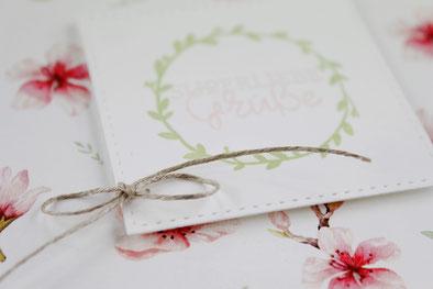 Grußkarte, Geburtstag, Karte, Blüten, Frühling, Spring