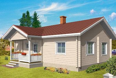 Blockhäuser bauen - Blockhaus Bungalow - Barrierefreiheit - Singlehaus - Blockholzhaus -  Zuuhause aus Holz - Wohngesundes Holzhaus ohne Folie