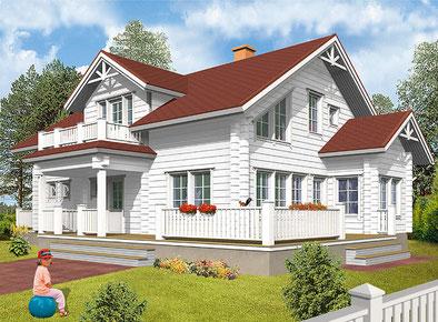 Wohnblockhaus München - Hausentwurf für ein Einfamilienhaus mit Balkon - Hausplanung -