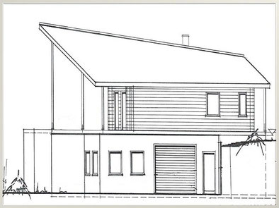 Planung des Hauses mit Keller © Harald Lerg Holzhaus