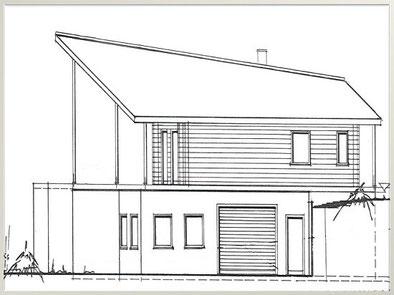 Planung des Hauses mit Keller - Zeichnungen