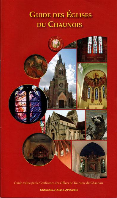 Guide des Églises du Chaunois, disponible gratuitement dans nos locaux