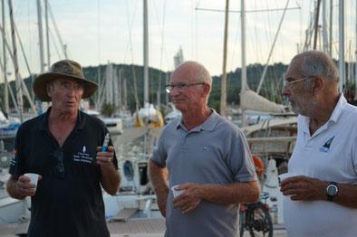 Hubert PINON, Président du CNMT avec Gérard CAILLET et Igor ZERSNOVICZ