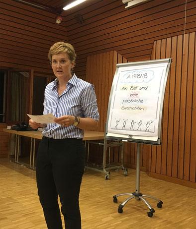 Frisch nach der Sommerpause: Jeannette Heiniger - unsere neue Präsidentin