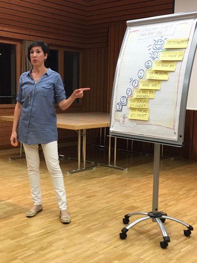 Tanya Loringett - mit Flipchart präsentieren