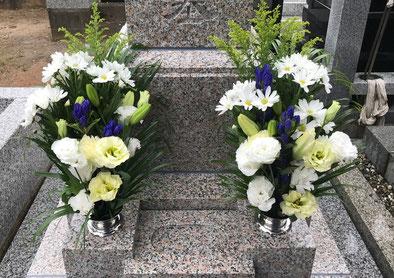 深谷石材店:お墓参り・供花