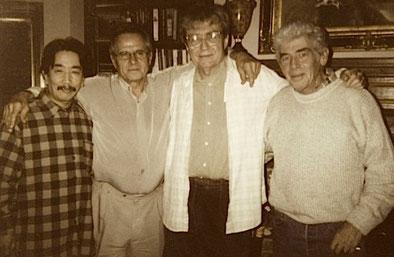 左から長門芳郎氏、ジュニア・マーカム、ウォルト・リッチモンド、ロジャー・ティリソン(2003年2月撮影/写真提供:長門芳郎氏)