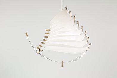 luminaire design papier bois eole