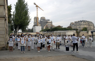 Flashmob Notre Dame 19 septembre 2020