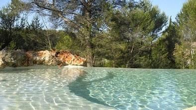 une eau transparente