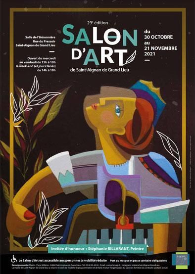 Salon d'Art Saint Aignan - Stéphanie Le Pitre Artiste peintre 44 56 85