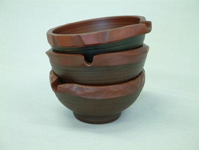 鎌倉彫創作展 2004年酔いの器 半球|鎌倉漆工房いいざさ