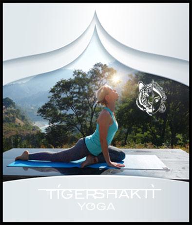 TigerShakti Yoga Nirmala showing KAPOTASANA