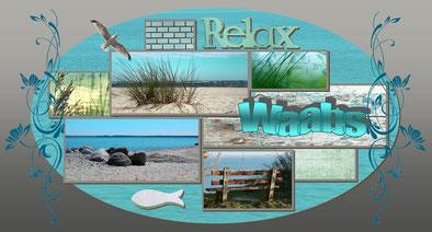 Relax - Ansichtskarte von Waabs