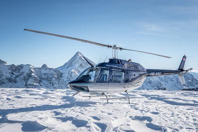 Elite Flights, Bell 206 Jet Ranger, HB-XXO, Alpenflug, Alpenrundflug mit Gletscherlandung, Gletscherapéro, Gletscherflug, Luzern-Beromünster