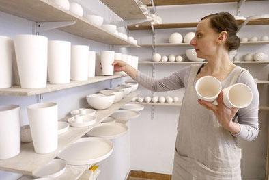 feinesweißes-Katy Jung Porzellan Kerzenhalter