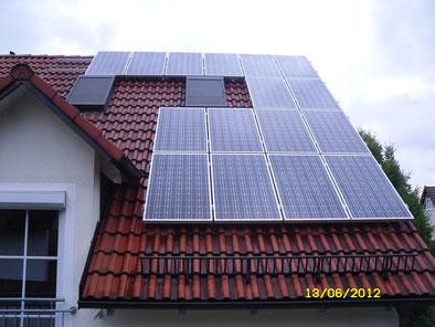 6,25 kWp Ismaning Westseite /  IBC MonoSol mit SMA
