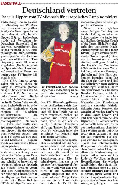 Bericht im Miesbacher Merkur am 30.7.2016 - Zum Vergrößern klicken